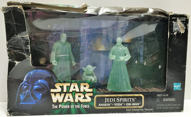 (TAS034172) - 1998 Hasbro Star Wars The Power of the Force Set - Jedi Spirits, , Action Figure, Star Wars, The Angry Spider Vintage Toys & Collectibles Store  - 1