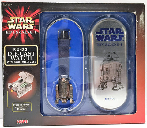 (TAS034173) - 1999 Hasbro Star Wars Episode I Die-Cast Watch - R2-D2, , Action Figure, Star Wars, The Angry Spider Vintage Toys & Collectibles Store  - 1