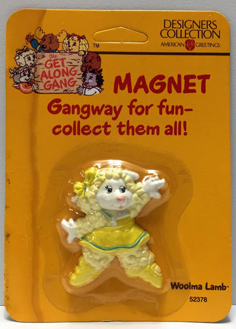 (TAS034205) - American Greetings Group The Get Along Gang Magnet - Woolma Lamb, , Magnets, American Greetings, The Angry Spider Vintage Toys & Collectibles Store  - 1