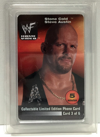 (TAS034207) - 2000 WWF Wrestling Lim Ed Phone Card - Stone Cold Steve Austin, , Phone, Wrestling, The Angry Spider Vintage Toys & Collectibles Store  - 1