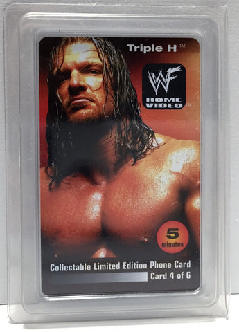 (TAS034208) - 2000 WWF Wrestling Lim Ed Phone Card - Triple H, , Phone, Wrestling, The Angry Spider Vintage Toys & Collectibles Store  - 1