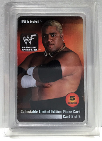 (TAS034209) - 2000 WWF Wrestling Lim Ed Phone Card - Rikishi, , Phone, Wrestling, The Angry Spider Vintage Toys & Collectibles Store  - 1