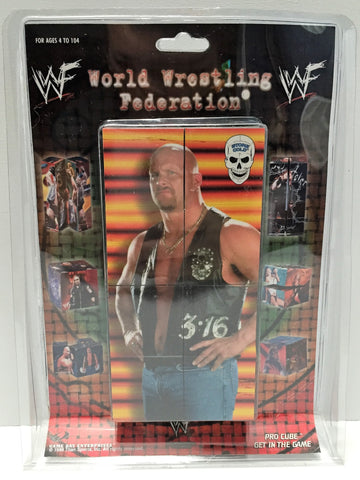 (TAS034214) - 1998 Titan Sports WWF Get in the Game Pro Cube - Steve Austin, , Puzzle, Wrestling, The Angry Spider Vintage Toys & Collectibles Store  - 1