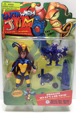 (TAS034227) - 1994 Playmates Earthworm Jim Figure - Princess What's-Her-Name, , Action Figure, Playmates, The Angry Spider Vintage Toys & Collectibles Store  - 1