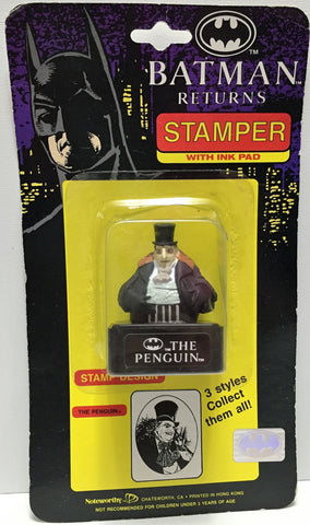 (TAS034228) - 1991 DC Comics Batman Returns Stamper with Ink Pad - The Penguin, , Stampers, Batman, The Angry Spider Vintage Toys & Collectibles Store  - 1