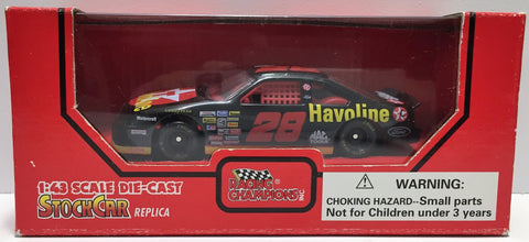 (TAS034233) - 1995 Racing Champions NASCAR Die-Cast Stock Car - #28 Havoline, , Trucks & Cars, Racing Champions, The Angry Spider Vintage Toys & Collectibles Store  - 1