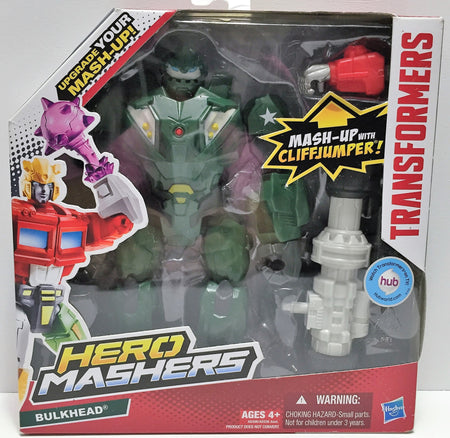 (TAS034240) - 2013 Hasbro Transformers Hero Mashers w/Cliffjumper - Bulkhead, , Action Figure, Transformers, The Angry Spider Vintage Toys & Collectibles Store  - 1