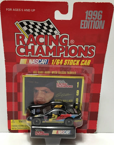 (TAS034285) - 1996 Racing Champions NASCAR Die-Cast Stock Car - Rusty Wallace, , Trucks & Cars, NASCAR, The Angry Spider Vintage Toys & Collectibles Store  - 1