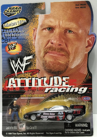 (TAS034294) - 1999 Jakks Pacific WWF Wrestling Attitude Racing - Steve Austin, , Trucks & Cars, Wrestling, The Angry Spider Vintage Toys & Collectibles Store  - 1