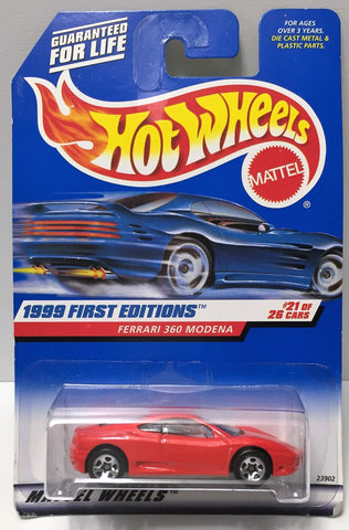 (TAS034403) - 1998 Mattel Hot Wheels 1999 First Editions - Ferrari 360 Modena, , Trucks & Cars, Hot Wheels, The Angry Spider Vintage Toys & Collectibles Store  - 1