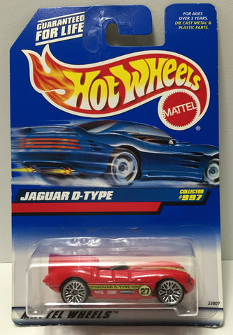 (TAS034410) - 1998 Mattel Hot Wheels Die-Cast - Jaguar D-Type, , Trucks & Cars, Hot Wheels, The Angry Spider Vintage Toys & Collectibles Store  - 1