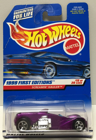 (TAS034412) - 1998 Mattel Hot Wheels - 1999 First Editions - Screamin' Hauler, , Trucks & Cars, Hot Wheels, The Angry Spider Vintage Toys & Collectibles Store  - 1