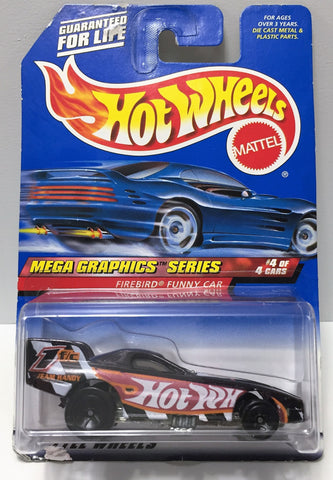 (TAS034418) - 1998 Mattel Hot Wheels Mega Graphics Series - Firebird Funny Car, , Trucks & Cars, Hot Wheels, The Angry Spider Vintage Toys & Collectibles Store  - 1