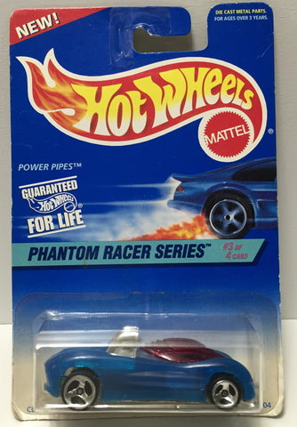 (TAS034420) - 1996 Mattel Hot Wheels Die-Cast - Phantom Racer Series Power Pipes, , Trucks & Cars, Hot Wheels, The Angry Spider Vintage Toys & Collectibles Store  - 1