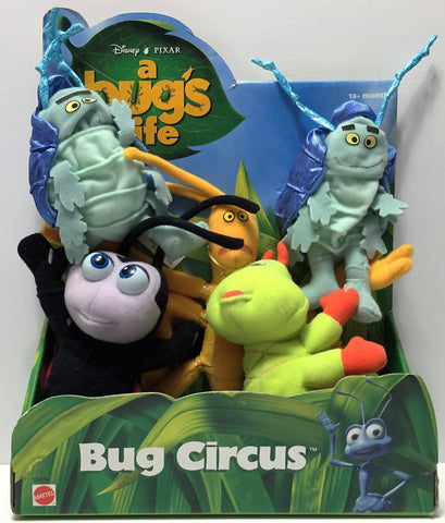 (TAS034886) - 1998 Mattel Disney Pixar A Bug's Life Stuffed Toys - Bug Circus, , Dolls, Disney, The Angry Spider Vintage Toys & Collectibles Store  - 1