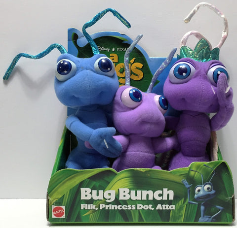 (TAS034887) - 1998 Mattel Disney Pixar A Bug's Life Stuffed Toys - Bug Bunch, , Dolls, Disney, The Angry Spider Vintage Toys & Collectibles Store  - 1