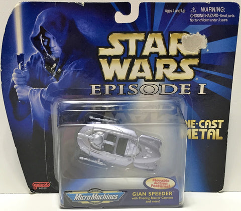 (TAS034898) - 1998 Galoob Star Wars Episode I Micro Machine - Gian Speeder, , Action Figure, Star Wars, The Angry Spider Vintage Toys & Collectibles Store  - 1