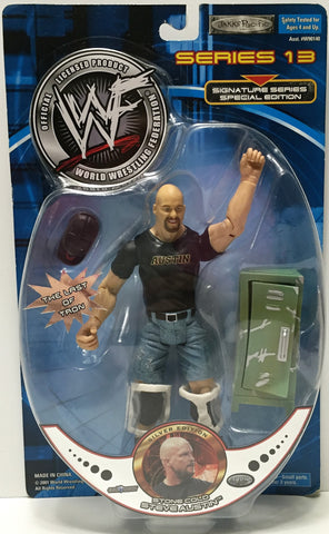 (TAS034908) - 2001 Jakks Pacific WWF Series 13 Action Figure - Stone Cold Steve, , Action Figure, Wrestling, The Angry Spider Vintage Toys & Collectibles Store  - 1