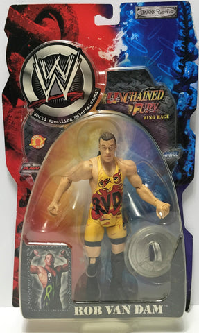 (TAS034909) - 2002 Jakks Pacific WWE Unchained Fury Action Figure - Rob Van Dam, , Action Figure, Wrestling, The Angry Spider Vintage Toys & Collectibles Store  - 1