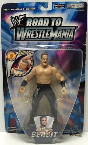(TAS034912) - 2002 Jakks Pacific WWF Road to Wrestle Mania Figure - Chris Benoit, , Action Figure, Wrestling, The Angry Spider Vintage Toys & Collectibles Store  - 1