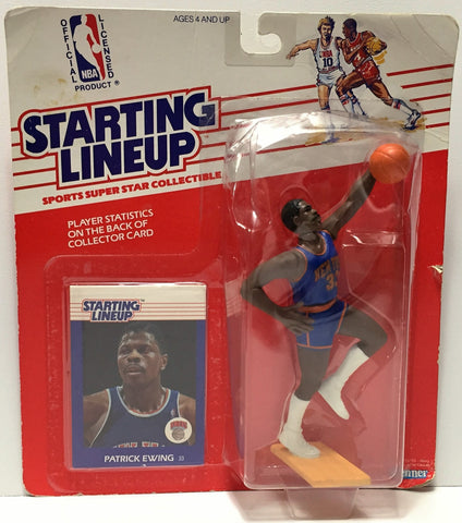 (TAS034942) - 1988 Kenner Starting Lineup Figure - NBA Basketball Patrick Ewing, , Action Figure, Starting Lineup, The Angry Spider Vintage Toys & Collectibles Store  - 1