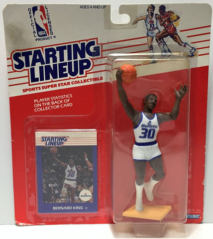 (TAS034943) - 1988 Kenner Starting Lineup Figure - NBA Basketball Bernard King, , Action Figure, Starting Lineup, The Angry Spider Vintage Toys & Collectibles Store  - 1