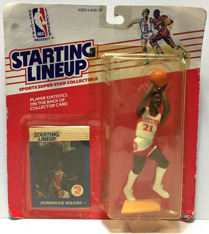 (TAS034944) - 1988 Kenner Starting Lineup Figure - Basketball Dominique Wilkins, , Action Figure, Starting Lineup, The Angry Spider Vintage Toys & Collectibles Store  - 1