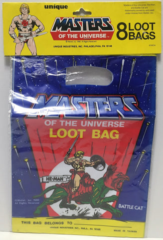 (TAS034956) - 1986 Mattel Masters of the Universe Loot Bags He-Man & Battle Cat, , Party, MOTU, The Angry Spider Vintage Toys & Collectibles Store  - 1