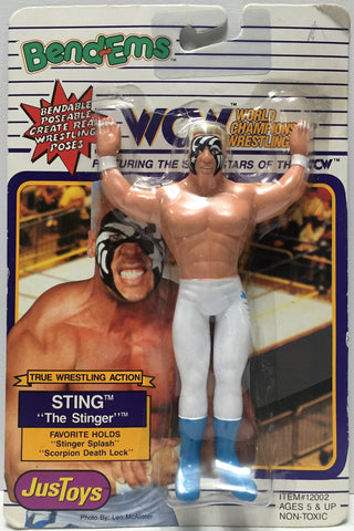 (TAS034964) - 1990 Just Toys WCW Wrestling Bend-Ems Action Figure - Sting, , Action Figure, Just Toys, The Angry Spider Vintage Toys & Collectibles Store  - 1