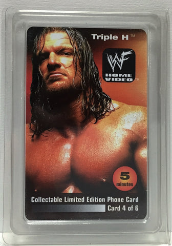 (TAS034972) - 2000 WWF Home Video Collectible Wrestling Phone Card - Triple H, , Other, Wrestling, The Angry Spider Vintage Toys & Collectibles Store  - 1