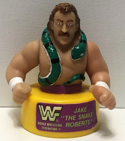 (TAS035002) - 1991 Titan Sports LJN WWF Wrestling Pencil Sharpener - Jake the Snake, , Pencils, Wrestling, The Angry Spider Vintage Toys & Collectibles Store  - 1
