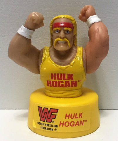 (TAS035003) - 1991 Titan Sports WWF Wrestling Pencil Sharpener - Hulk Hogan, , Pencils, Wrestling, The Angry Spider Vintage Toys & Collectibles Store  - 1