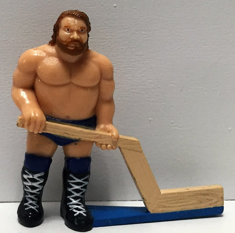 (TAS035011) - 1991 Titan Sports WWF Wrestling PVC Hockey Figure - Jim Duggan, , Action Figure, Wrestling, The Angry Spider Vintage Toys & Collectibles Store  - 1