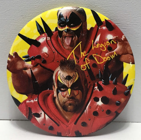 (TAS035026) - Titan Sports WCW WWF Wrestling Button - The Legion of Doom, , Buttons, Wrestling, The Angry Spider Vintage Toys & Collectibles Store  - 1