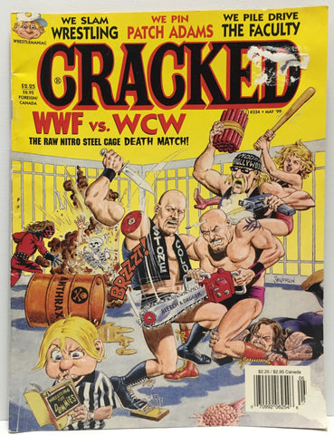 (TAS035375) - 1999 Wrestlemanic Cracked WCW vs WWF Wrestling Magazine, , Books, Wrestling, The Angry Spider Vintage Toys & Collectibles Store  - 1