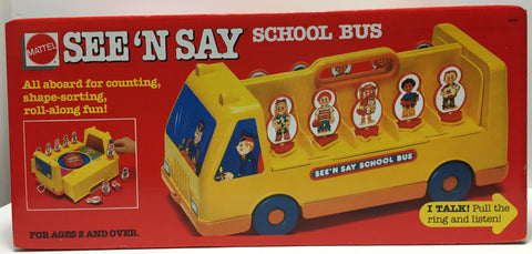 (TAS035383) - 1989 Mattel See 'N Say School Bus Kids Toy, , Action Figure, Mattel, The Angry Spider Vintage Toys & Collectibles Store  - 1
