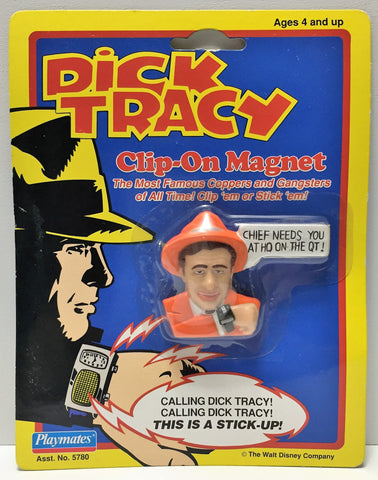 "(TAS034029) - 1990 Playmates Dick Tracy Magnet ""Chief needs you at HQ on the QT"", , Magnets, Playmates, The Angry Spider Vintage Toys & Collectibles Store  - 1"