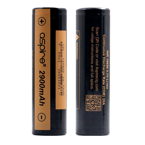 ASPIRE 18650 BATTERY 2900mAh