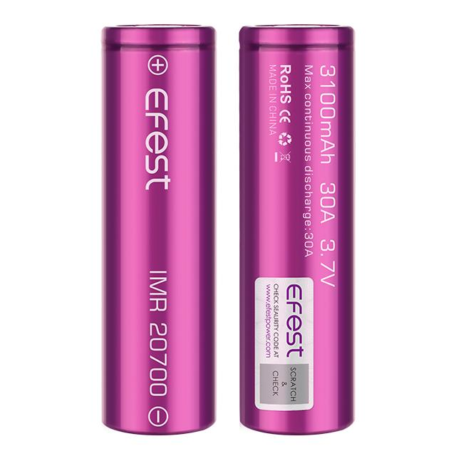 EFEST 20700 3100MAH 30A IMR BATTERY - The Vapory - www.thevapory.com - ACCESSORIES