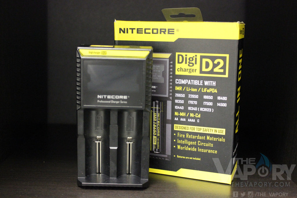 NITECORE D2 SERIES 2 SLOT CHARGER - The Vapory - www.thevapory.com - ACCESSORIES