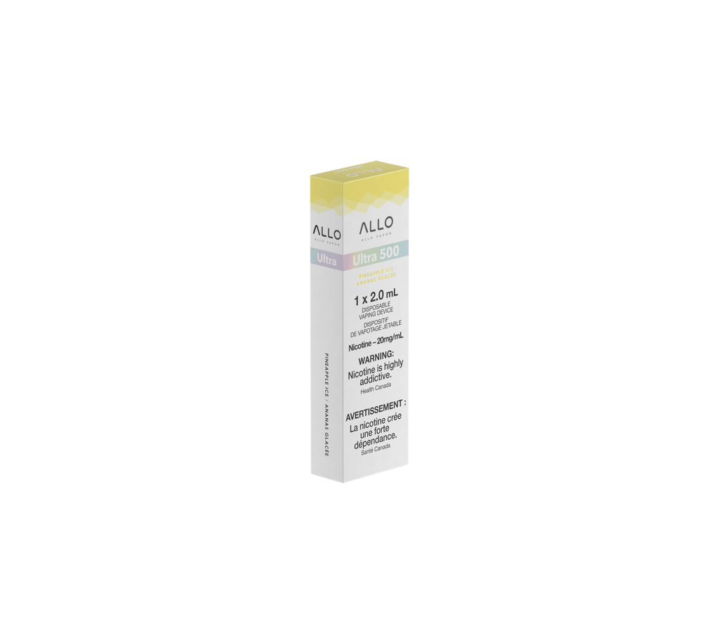 ALLO ULTRA DISPOSABLE VAPE - PINEAPPLE ICE (2ML)