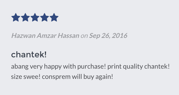 Feedback from Hazwan Amzar Hassan