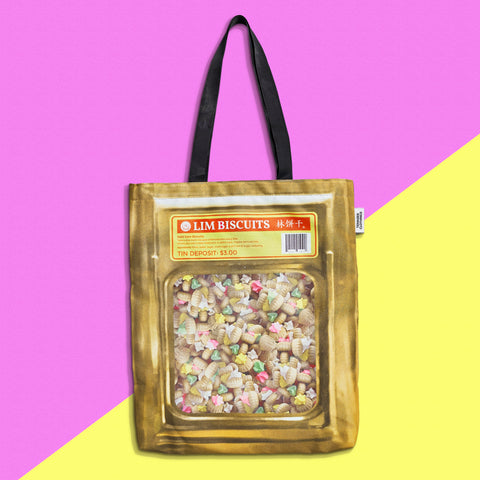 Gem Biscuit Tin Tote Bag - Temasek Clothings