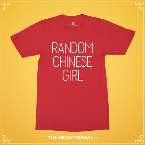 Temasek Clothings - LIMITED EDITION Random Chinese Girl in Red T-shirt