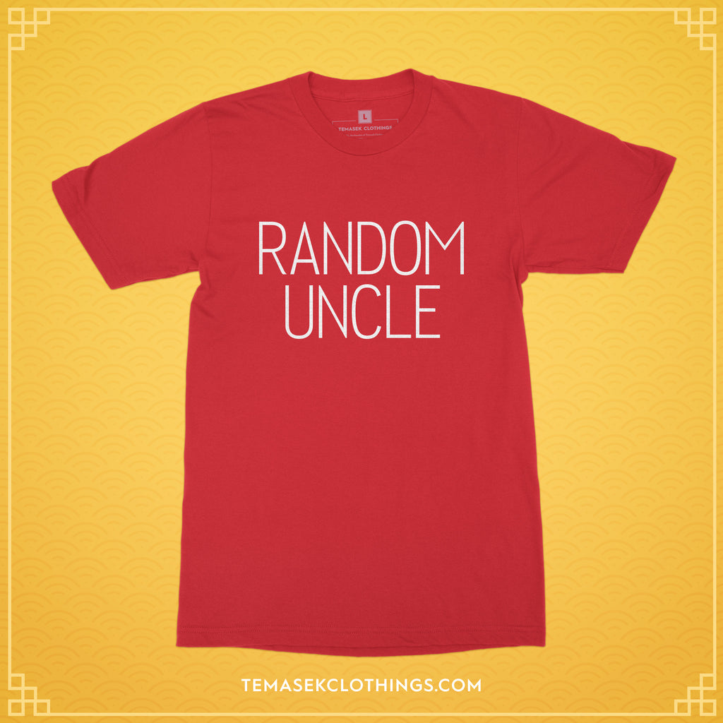Temasek Clothings - T-shirt - LIMITED EDITION Random Uncle in Red