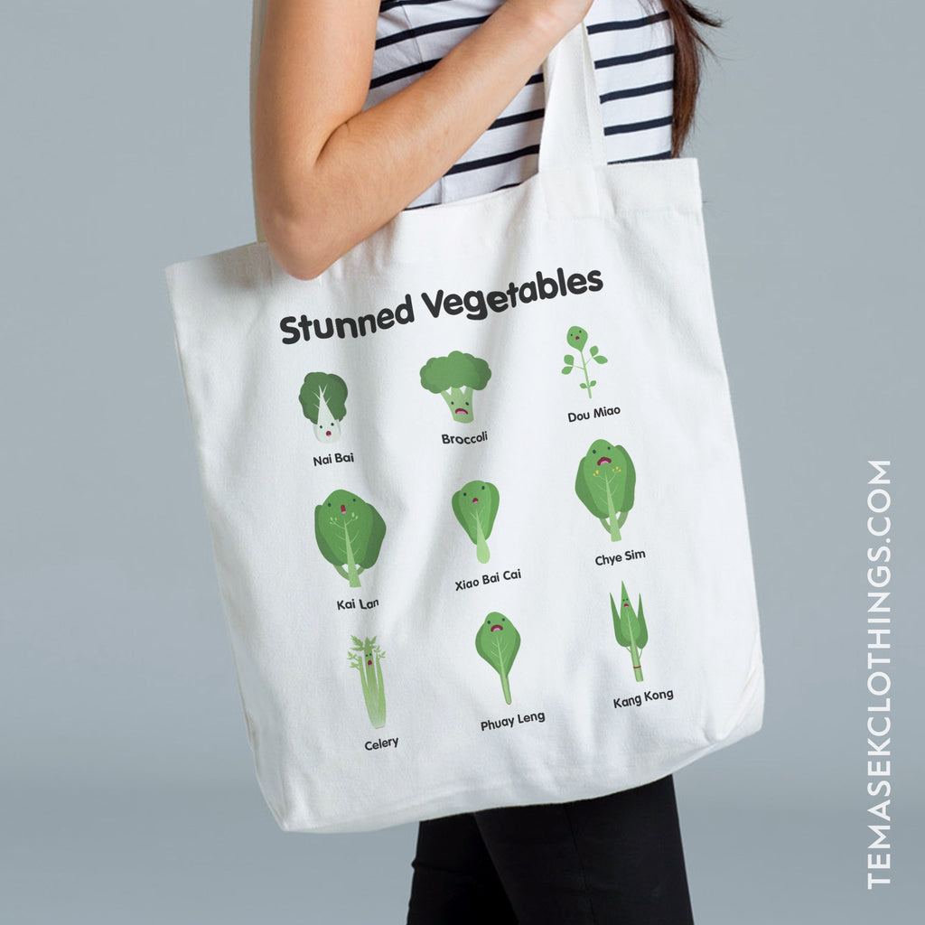 Temasek Clothings - Stunned Vegetables Tote Tote Bag - 1