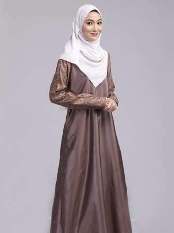 Azaleya Abaya in Warm Almond Brown in Size XL