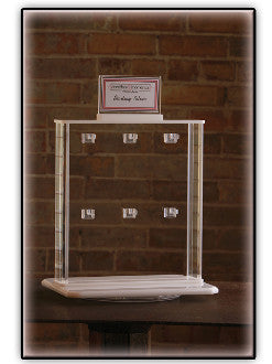 Acrylic Double-Sided Spinning Jewelry Display (12-Hook)