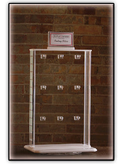 Acrylic Double-Sided Spinning Jewelry Display (18 hook)