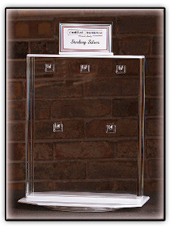 Acrylic Double-Sided Spinning Jewelry Display (10-Hook)